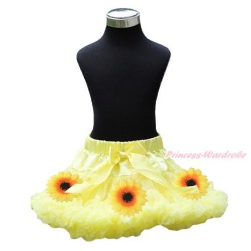 Summer Yellow Sunflower Full Pettiskirt P204