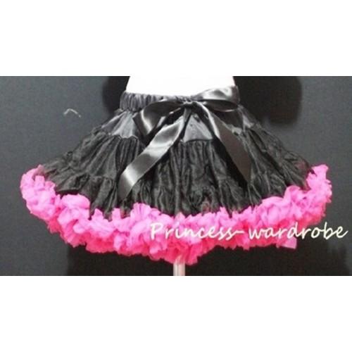 Black Hot PInk Teen Full Pettiskirt XXL P210