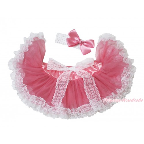Dusty Pink With Lace New Born Pettiskirt N265