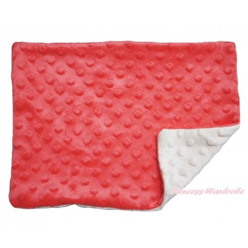 Orange Cream White Baby Infant Minky Dots Pillowcase BI44
