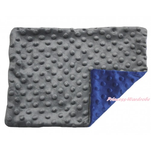 Grey Blue Baby Infant Minky Dots Pillowcase BI48