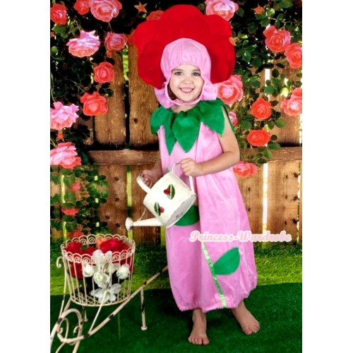 Flower Pink One Piece Party Costume C408
