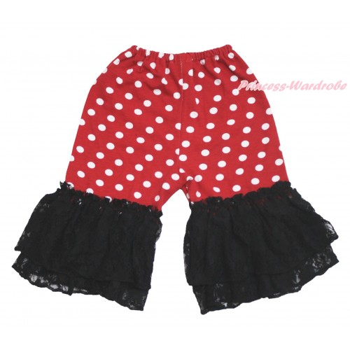 Minnie Dots Cotton Short Pantie & Black Ruffles PS024