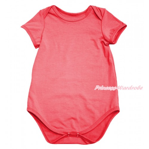 Plain Style Coral Tangerine Baby Jumpsuit TH592