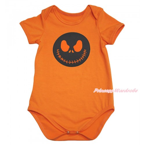 Halloween Orange Baby Jumpsuit & Jack Print TH609