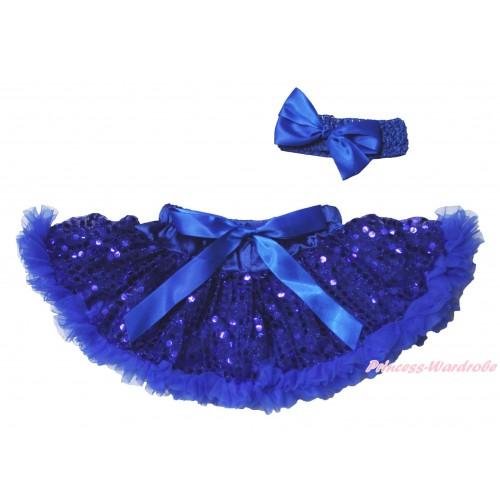 Royal Blue Sparkle Bling Sequins New Born Pettiskirt N276