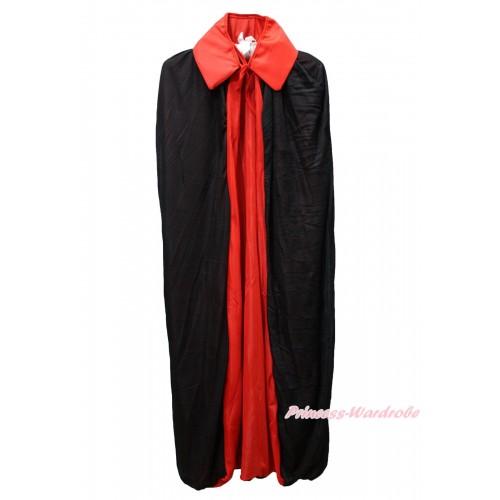 Red Black Vampire Bloodsucker Cape Halloween Costume C414