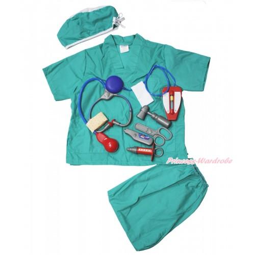 Doctor Surgery Operation Blue Kids Costume Set C417