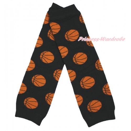 Newborn Baby Basketball Black Leg Warmers Leggings LG299
