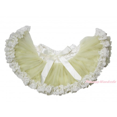 Cream White With Lace New Born Pettiskirt N275