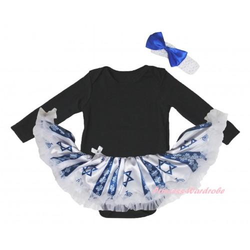 Black Long Sleeve Baby Bodysuit Candles Stars Pettiskirt JS6066