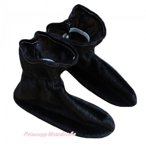 Animals Kids Black Costume Shoes S657