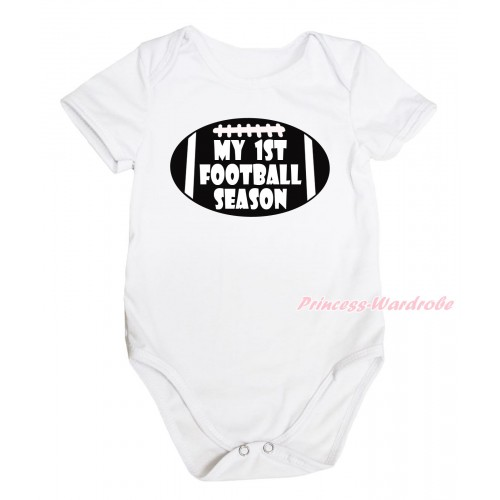 Brown Baby Jumpsuit & My 1st Football Season Painting TH676