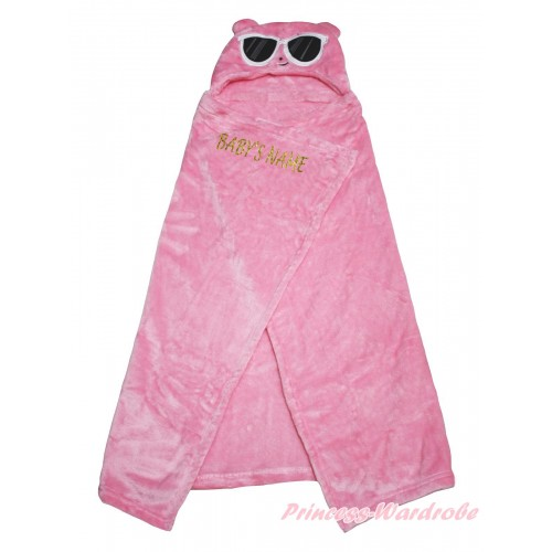 Personalize Custom Pig Pink Baby's Name Swaddling Wrap Blanket BI69
