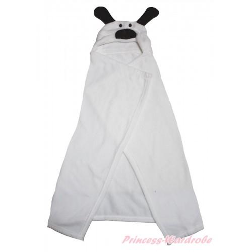 Dog White Cute Animal Baby Swaddling Wrap Blanket BI70