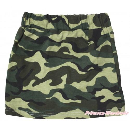 Camouflage Girls Cotton Skirt P265