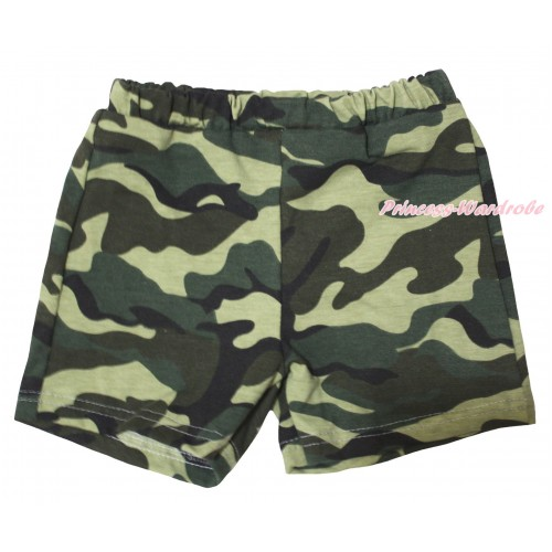 Camouflage Cotton Short Panties PS045