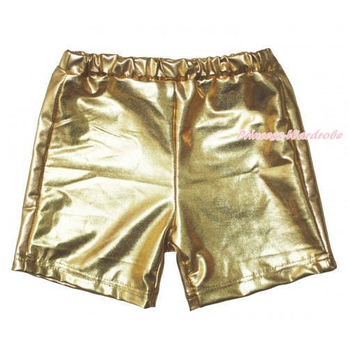 Gold Cotton Short Panties PS047