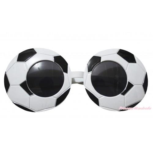 Black White Football Sun Glasses Accessory Costume C438