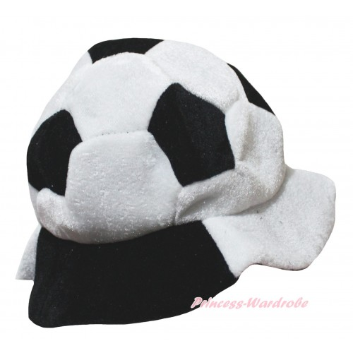 Black White Football Costume Party Warm Hat H1069