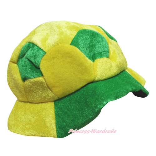 Kelly Green Yellow Football Costume Party Warm Hat H1070