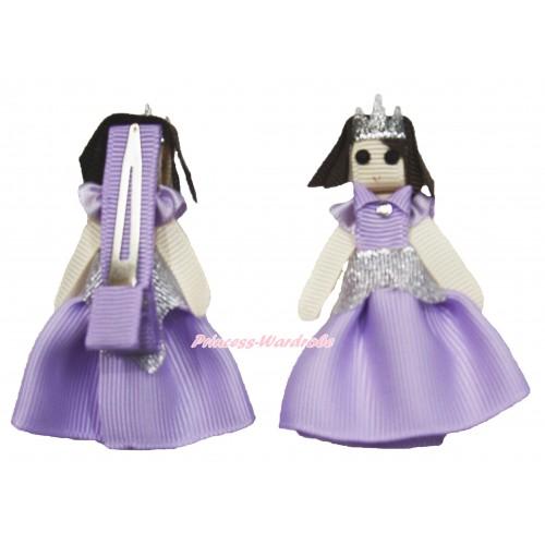 Princess Sofia Handmade Doll Ribbon Hair Clip H863