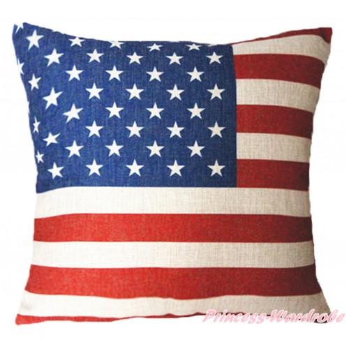 Patriotic America Flag Home Sofa Cushion Cover HG103