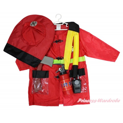 Firefighter Long Sleeve Costume 6PC Set C290