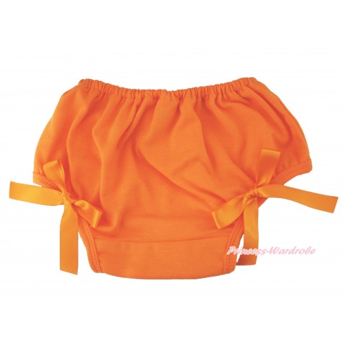 Halloween Orange Bloomer & Bow B110