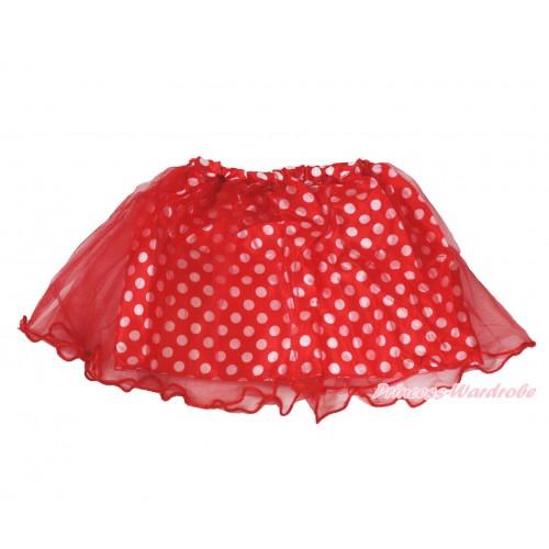 Red White Dots Minnie Skirt Costume C338