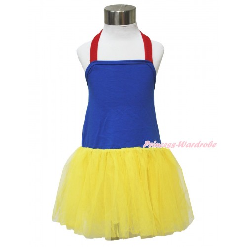 Red Royal Blue Yellow ONE-PIECE Halter Dress LP119
