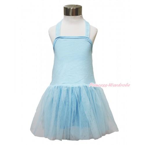 Light Blue ONE-PIECE Halter Dress LP120