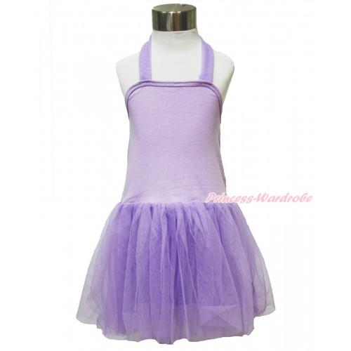 Lavender ONE-PIECE Halter Dress LP121