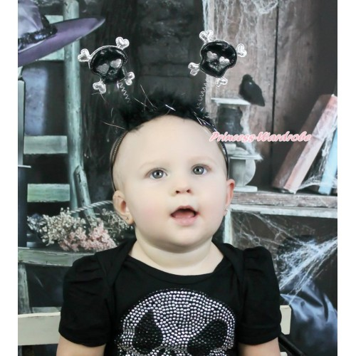 Halloween Black Skeleton Headband H891