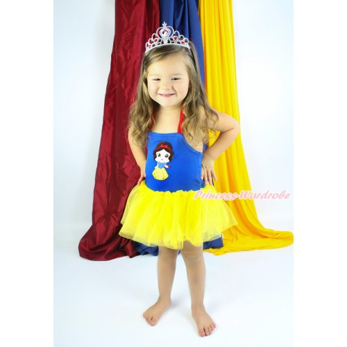 Red Royal Blue Yellow Halter Dress & Princess Snow White LP131