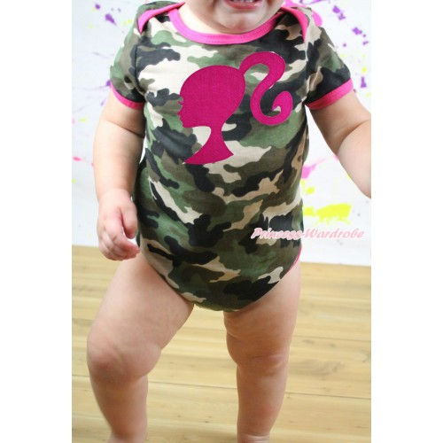Camouflage Baby Jumpsuit & Hot Pink Barbie Princess Print TH547