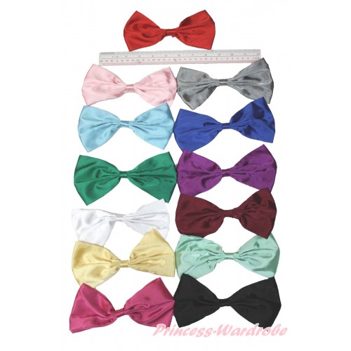 Optional Solid Color Large Satin Bow Hair Clip H857