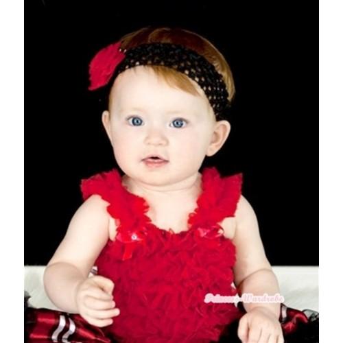 Hot Red Ruffles Baby Tank Top RT05