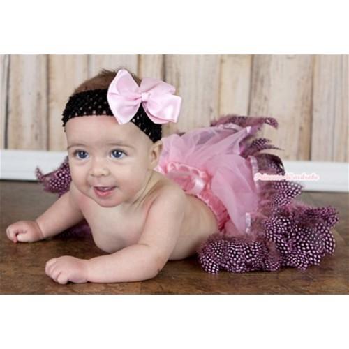Light Pink Feather Newborn Pettiskirt N109