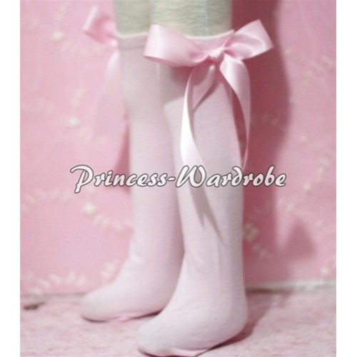 Light Pink Cotton Stocking with Light Pink Ribbon SK03
