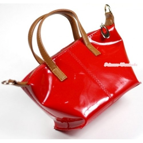 Hot Red Plastic Cute Handbag Petti Bag Purse With Strap CB26