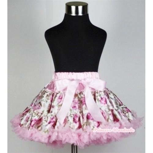 Light Pink Rose Fusion Teen Full Pettiskirt XXL AP68