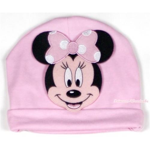 Light Pink Cotton Cap with Light Pink Minnie Print TH326