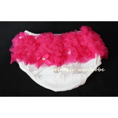 Hot Pink White Pettiskirt Ruffles Panties Bloomers B17