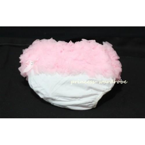 Light Pink Ruffles White Cotton Panties Bloomers B18