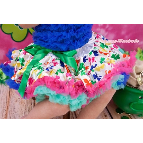 Royal Blue Hot Pink Saint Patrick's Day Full Pettiskirt P161