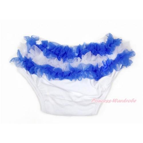 Greece Royal Blue White Ruffles World Cup Panties Bloomers B075