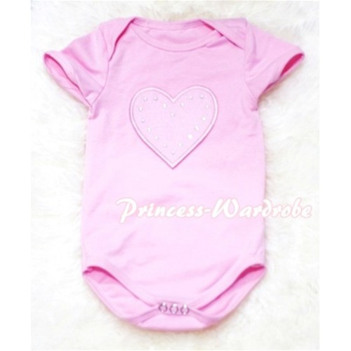 Light Pink Baby Jumpsuit with Light Pink Heart TH53