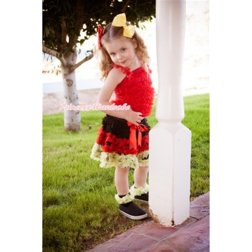 World Cup Red Ruffles Tank Top with Germany Black Red Yellow Ruffles Pettiskirt MR254