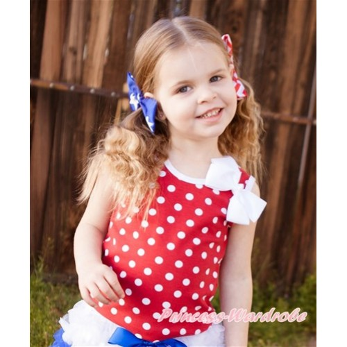 Minnie Dots Tank Top With White Bow TP209